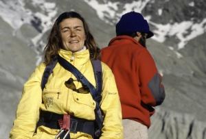 Annapurna 87, od lewej Wanda Rutkiewicz, Jerzy Kukuczka
